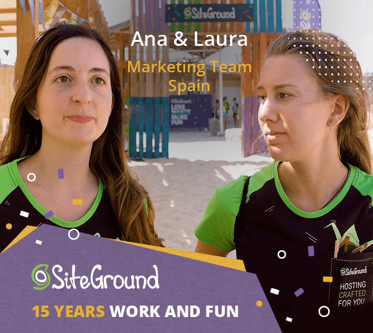 Ana and Laura Marketing Team Spain